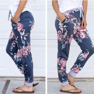 🆕Tickled Teal Floral Jogger Lounge Pants